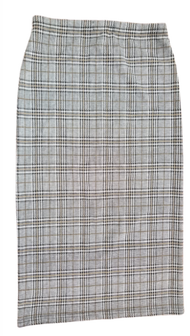 STRAIGHT LADIES SKIRT IN PLAID