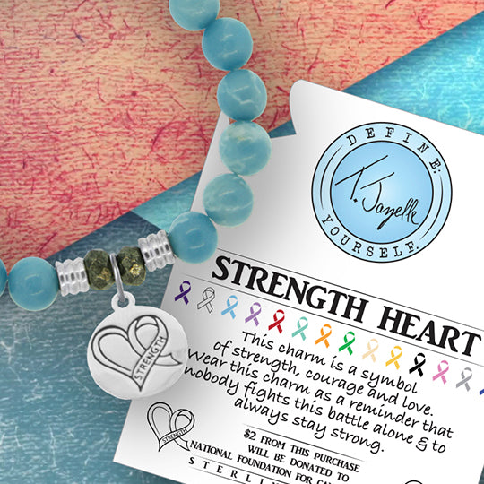 Strength Heart Charm Bracelet Collection