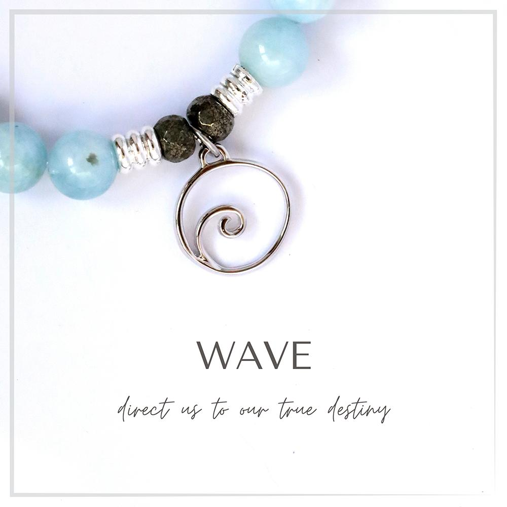 Wave Charm Bracelet Collection