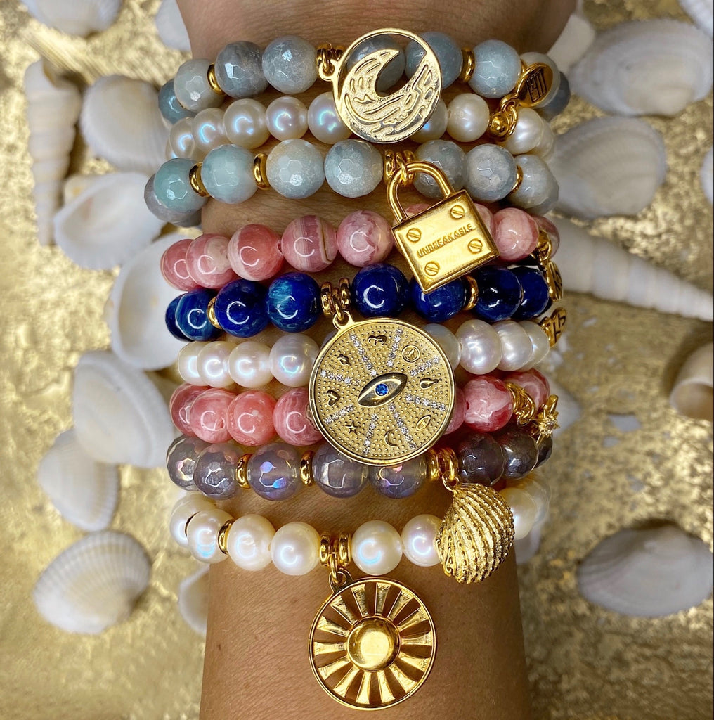 Gold Charm Bracelet Collection
