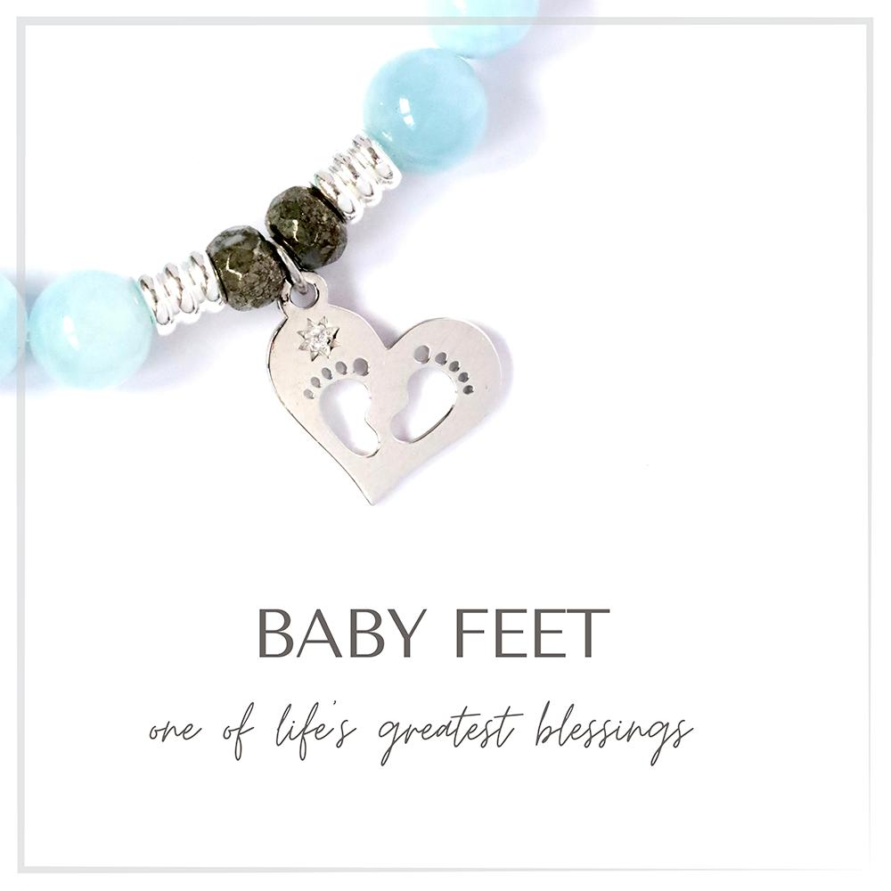 Baby Feet Charm Bracelet Collection