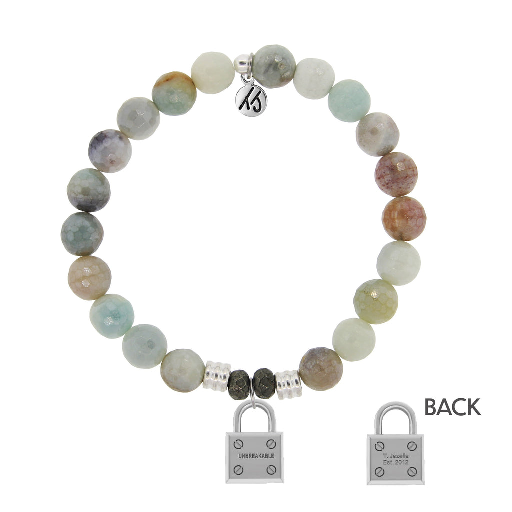 Amazonite Stone Bracelet with Unbreakable Sterling Silver Charm