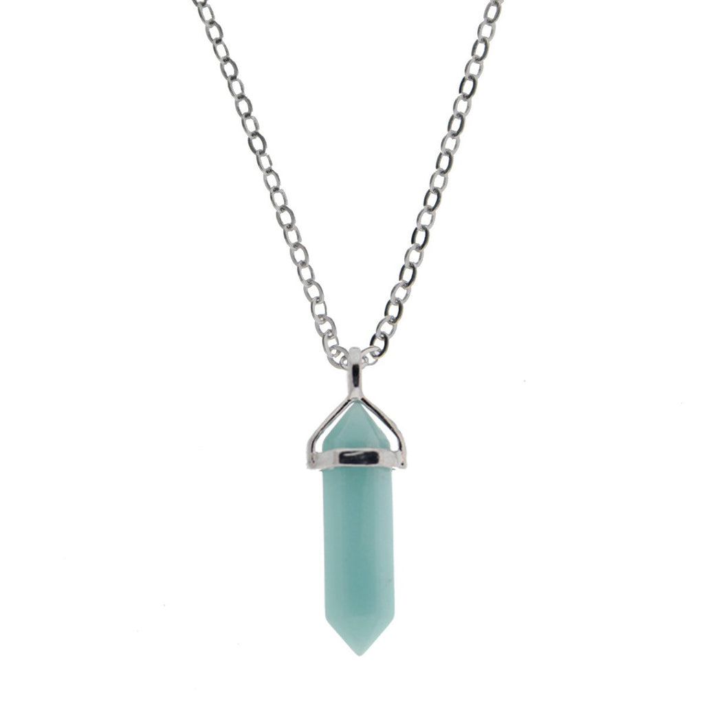 Cleo Crystal Necklace - Amazonite