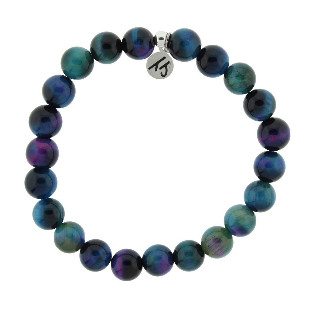 Defining Bracelet- Fearless Bracelet with Indigo Tiger's Eye Gemstones
