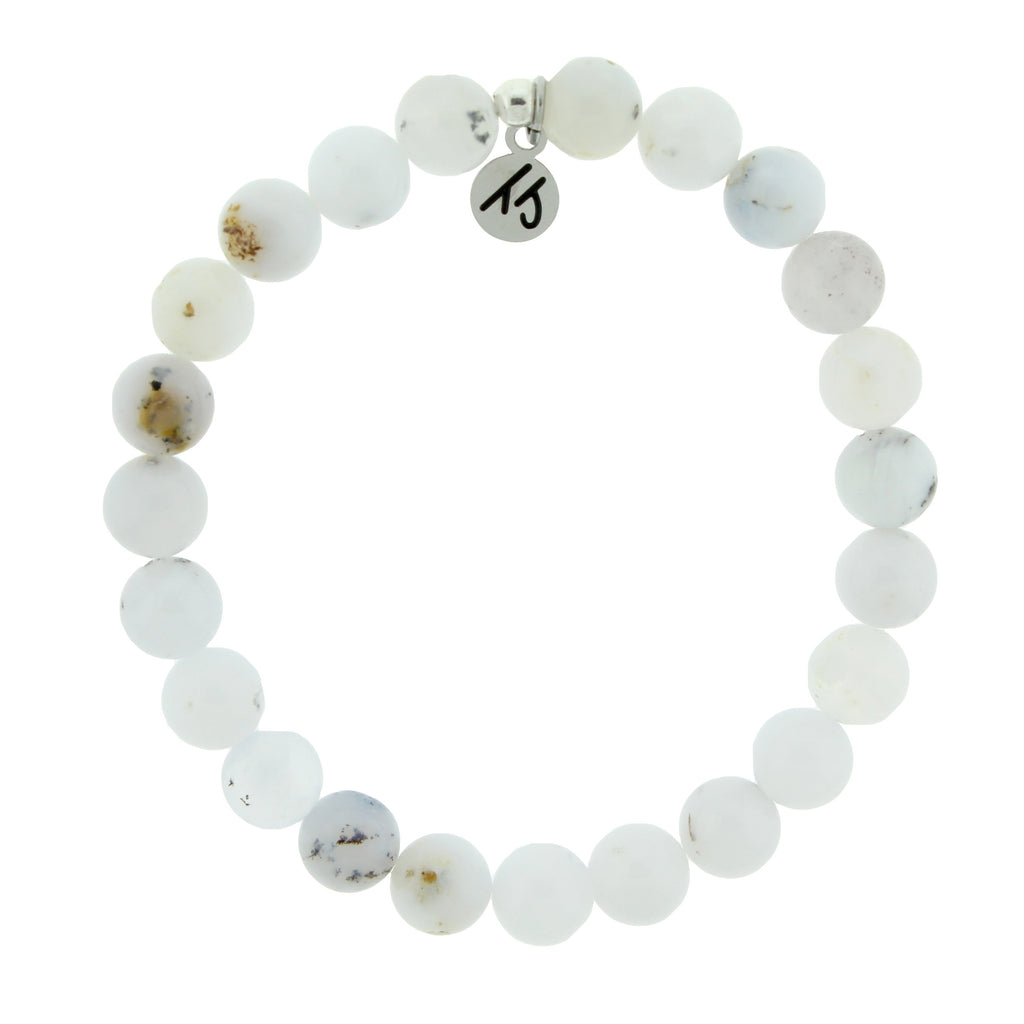 Defining Bracelet- Harmony Bracelet with White Chalcedony Gemstones