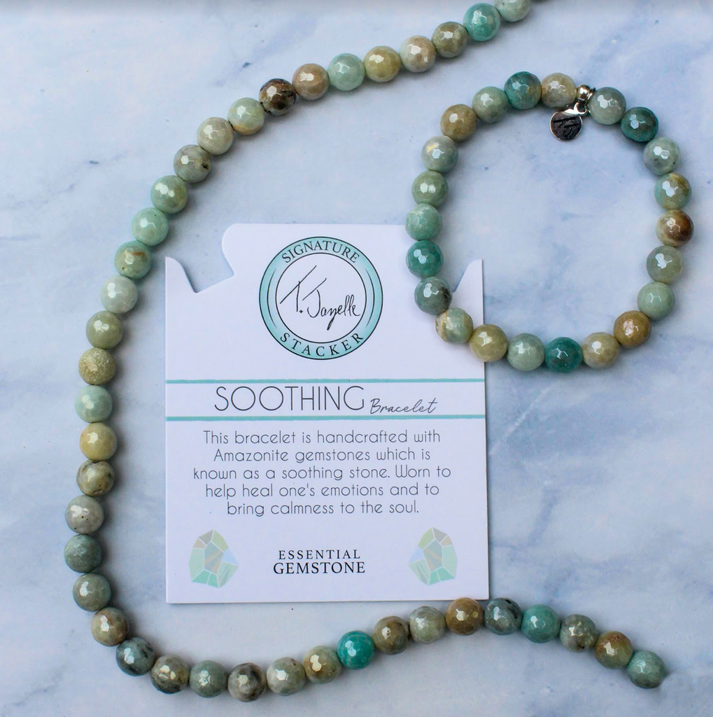 Defining Bracelet- Soothing Bracelet with Amazonite Gemstones