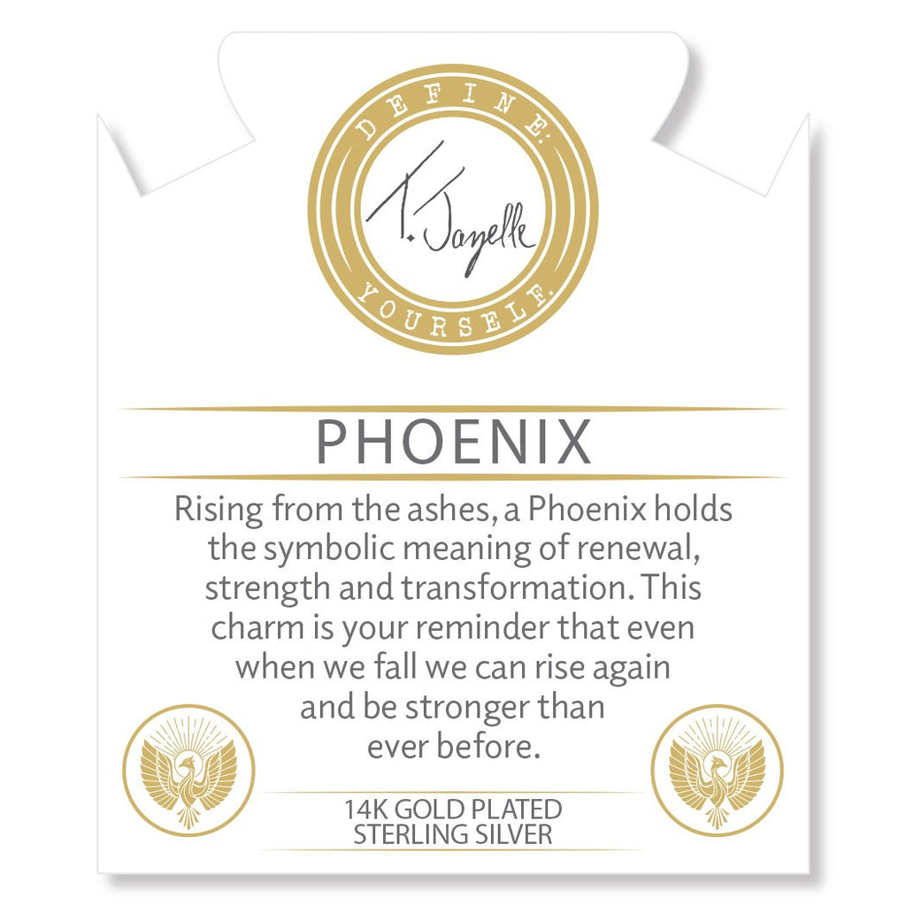 Gold Collection - Silver Steel Bracelet with Phoenix Gold Charm