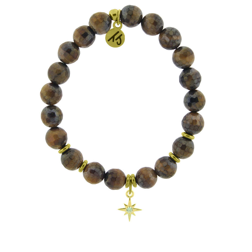Gold Collection - Tiger's Eye Stone Bracelet with Your Year Gold Charm