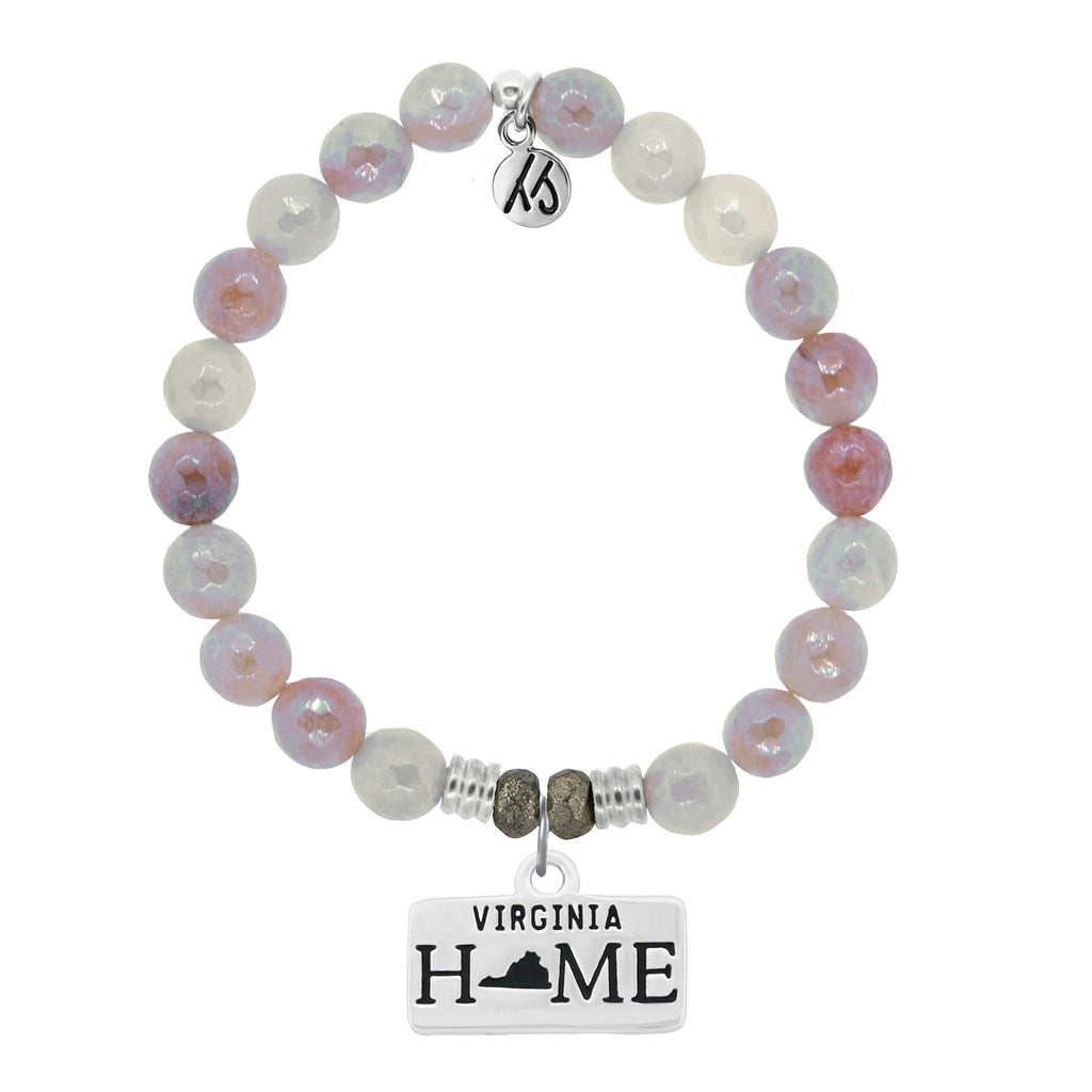 Home Collection- Sunstone Stone Bracelet with Virginia Sterling Silver Charm