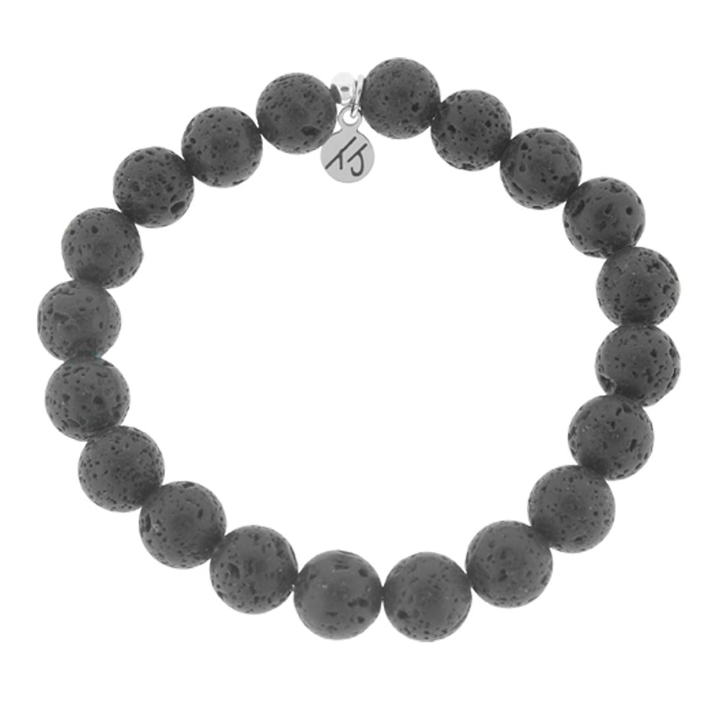 Men's Noble Stone Bracelet Collection - Classic Lava Rock Men's Beaded Bracelet