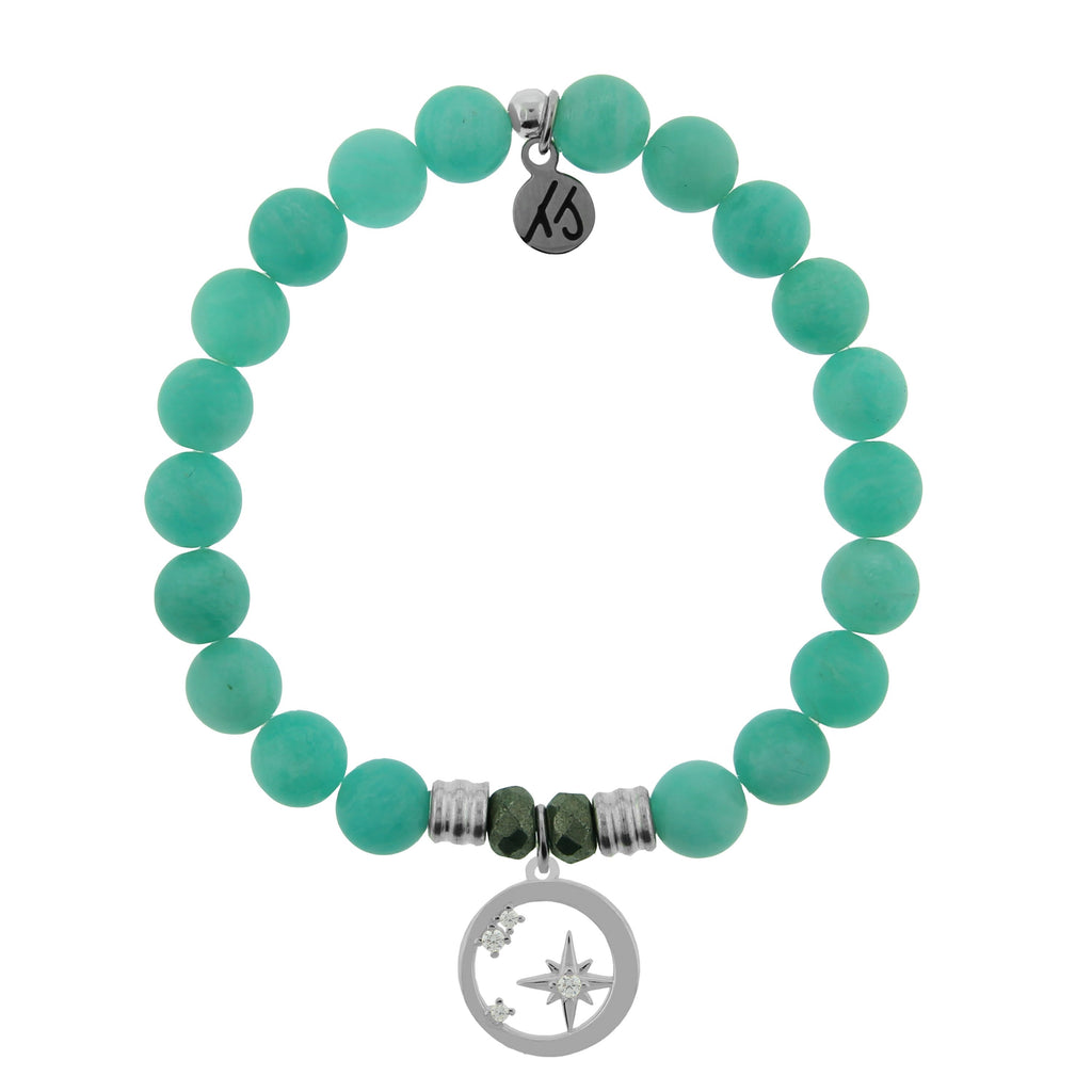 Peruvian Amazonite Stone Bracelet with What is Meant to Be Sterling Silver Charm