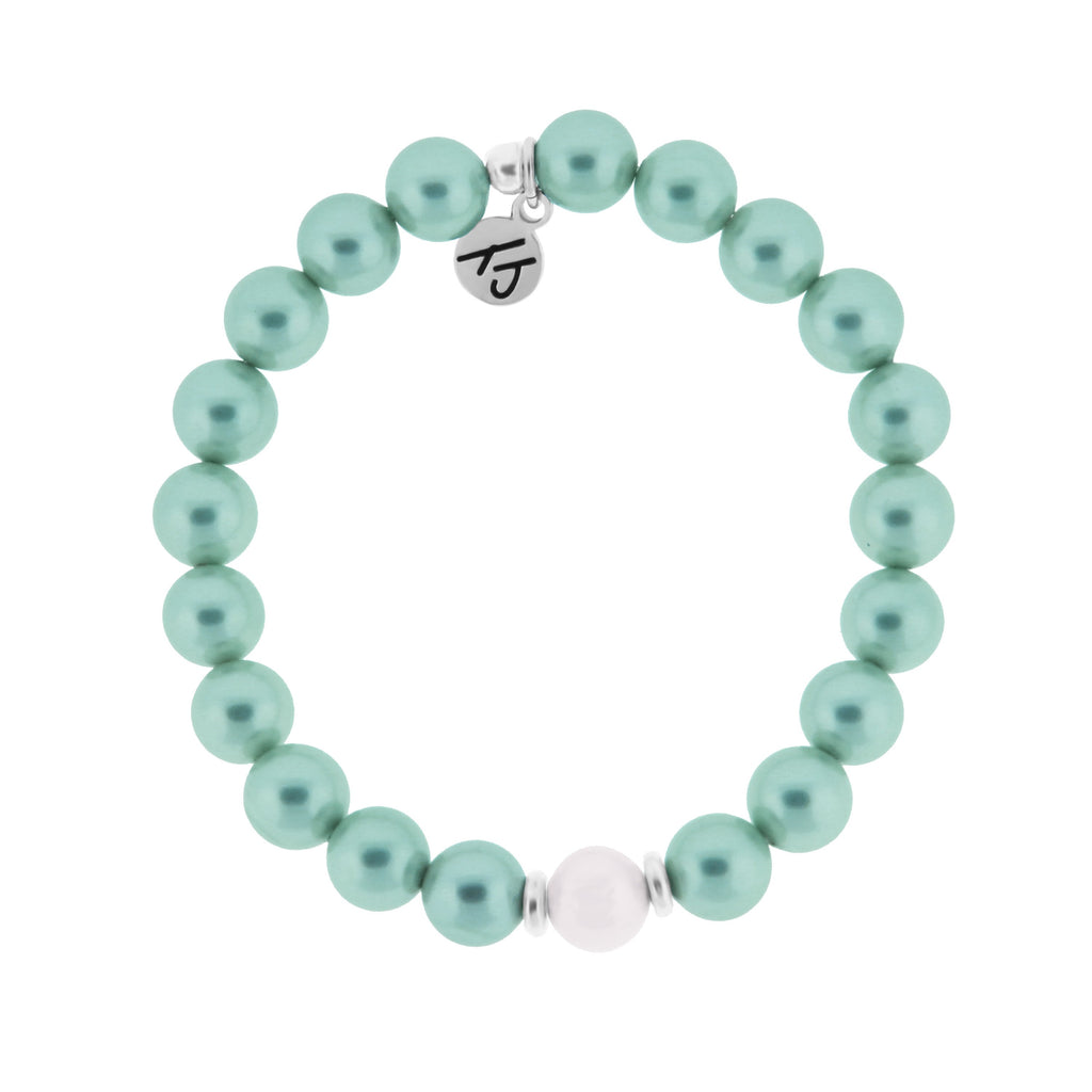 Stacker Collection- Aqua Pearl Bracelet