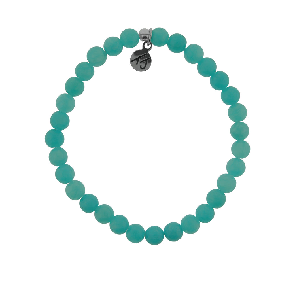 Stacker Collection-Teal Jade 6mm Stone Bracelet