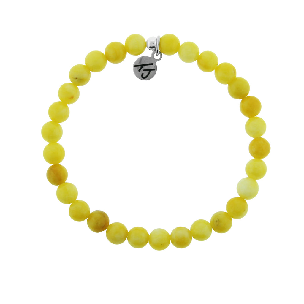 Stacker Collection-Yellow Jade 6mm Stone Bracelet