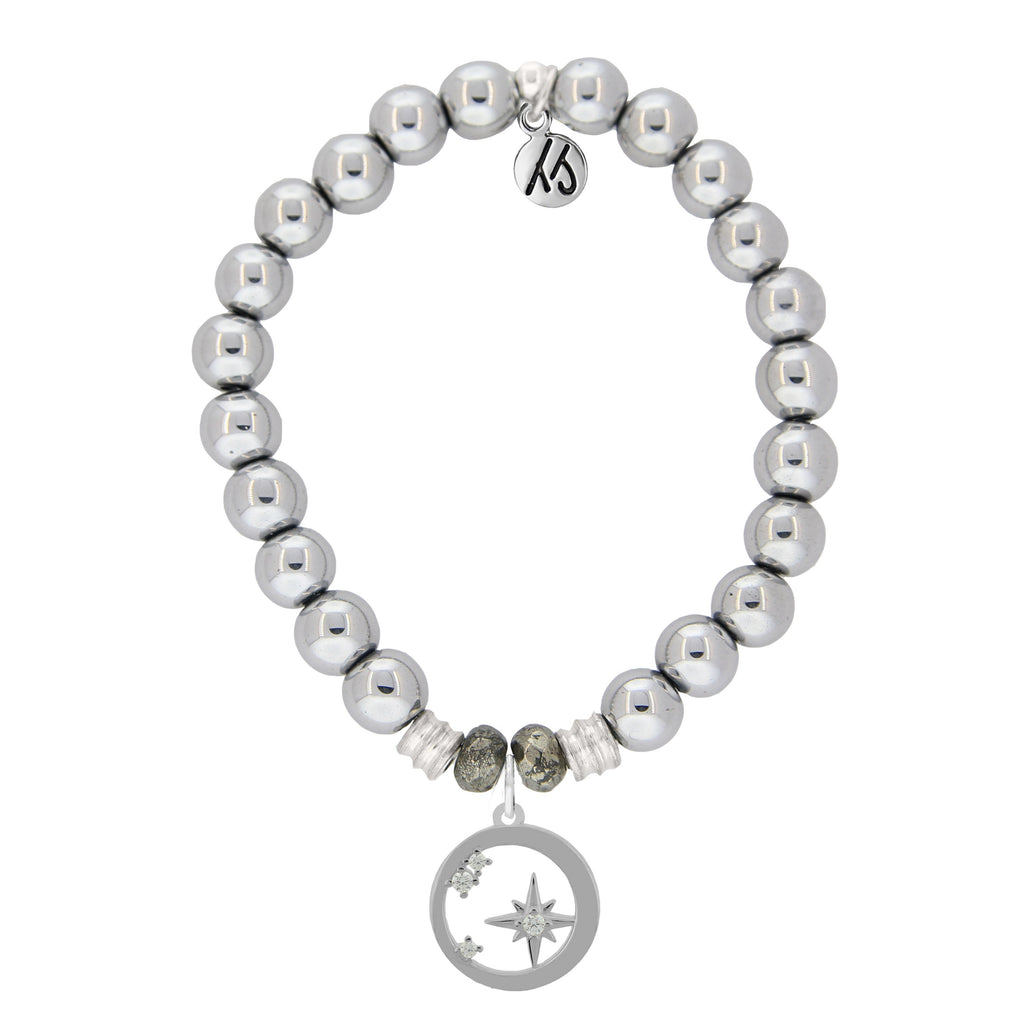 Stainless Steel Bracelet with What is Meant to Be Sterling Silver Charm