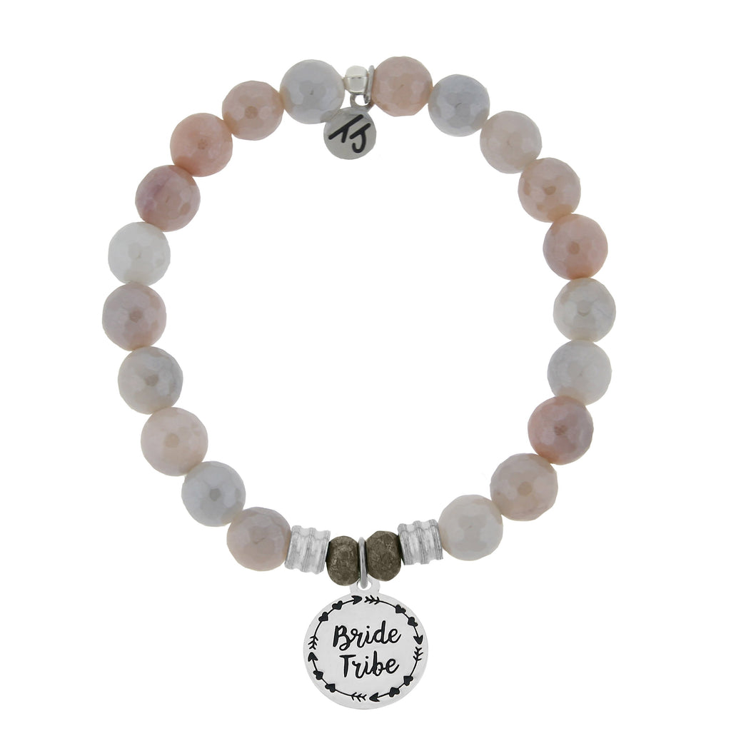 Sunstone Bracelet with Bride Tribe Sterling Silver Charm