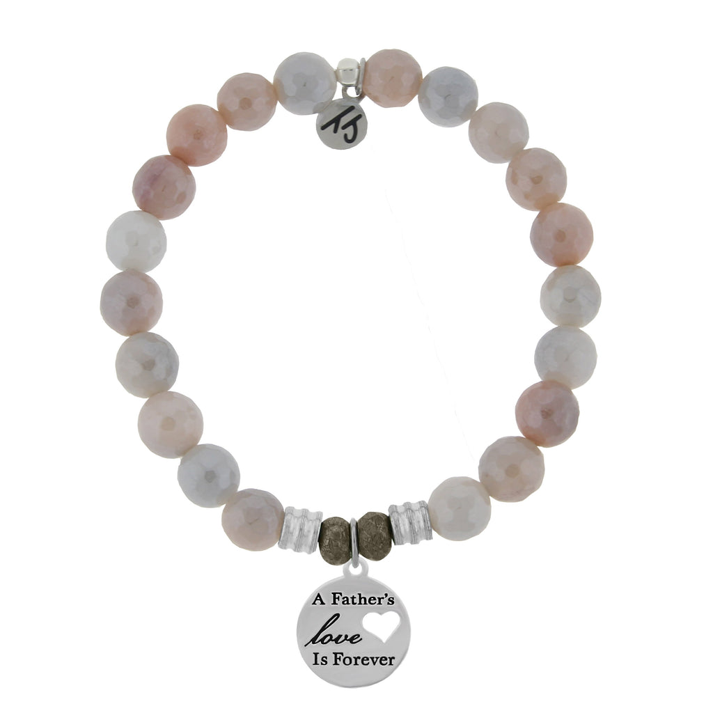 Sunstone Stone Bracelet with Fathers Love Sterling Silver Charm