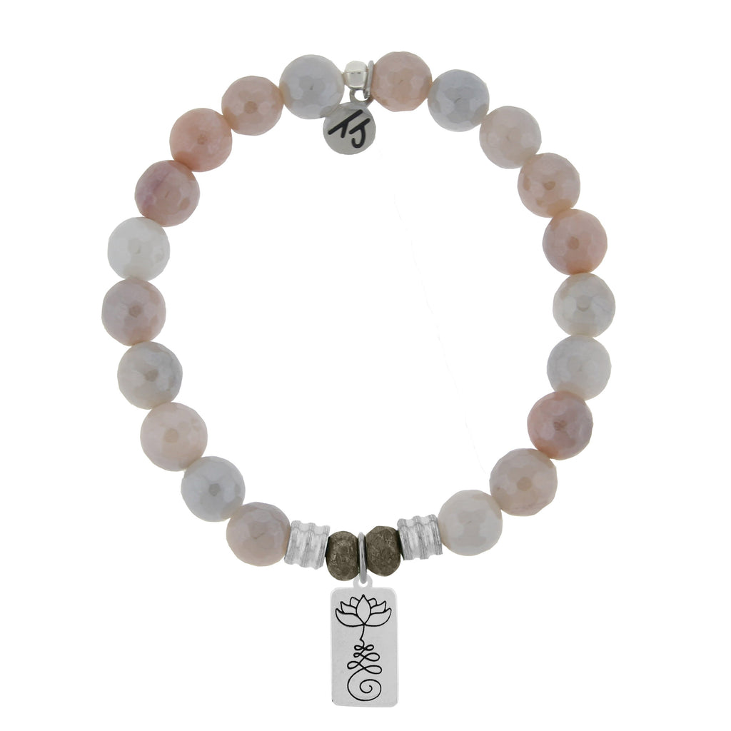 Sunstone Stone Bracelet with New Beginnings Sterling Silver Charm