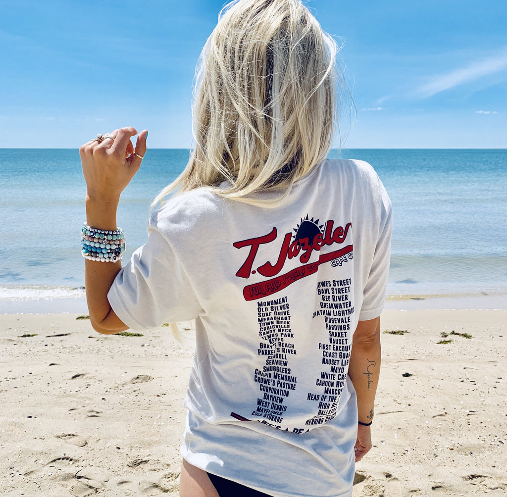 T. Jazelle Sun and Stacks Tour T-shirt - Natural