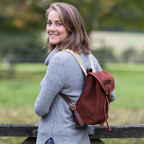 Taylor Kent & Co Ruby Suede Rucksack