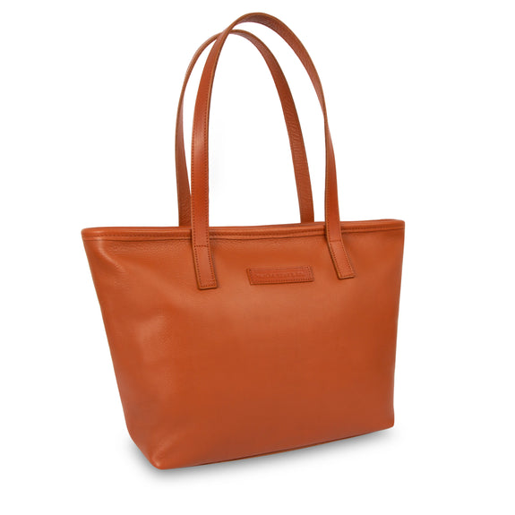 Emily Leather Tote Bag