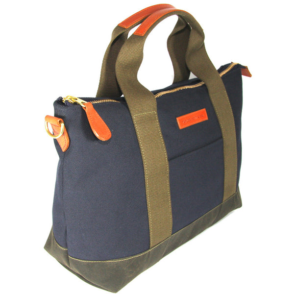 Burghley Travel Bag in Canvas & Waxed Cotton