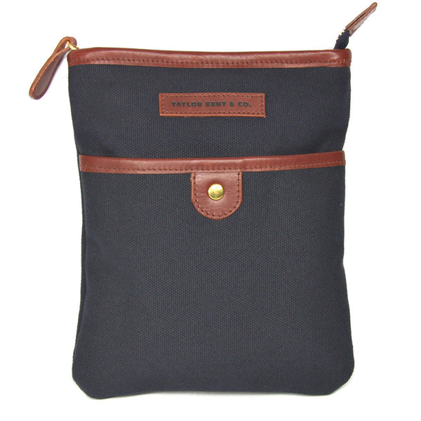 Taylor Kent Canvas Day Bag in Navy