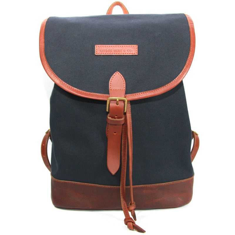 Taylor Kent Canvas Rucksack in Navy