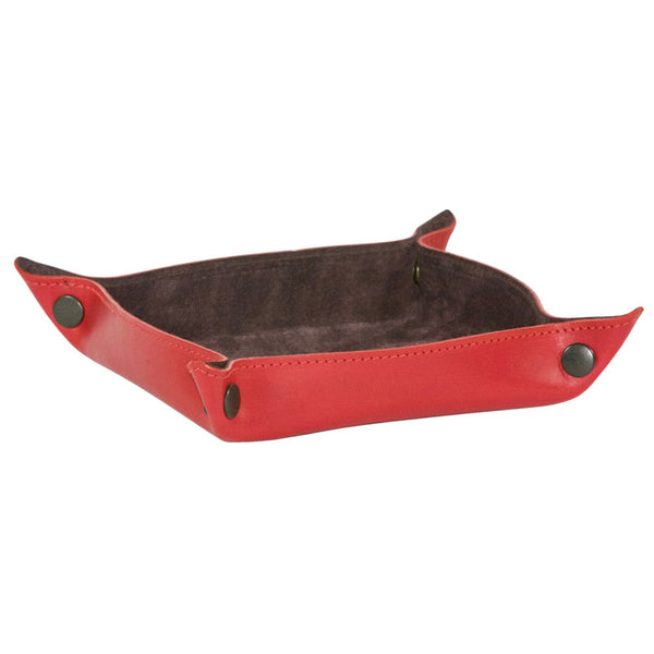 Taylor Kent & Co Desk Tidy / Coin Tray in Red