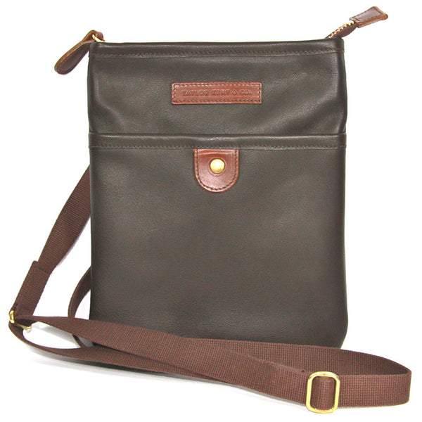 Taylor Kent & Co Leather Day Bag / iPad Case in Dark Brown