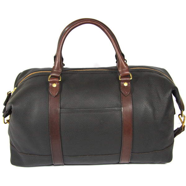 Taylor Kent & Co Leather Holdall in Dark Brown