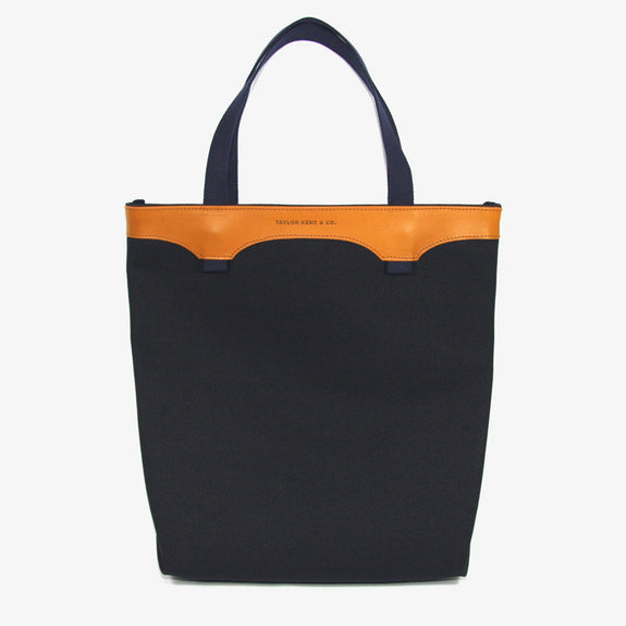 Taylor Kent Canvas Tote Bag in Navy with Yellow