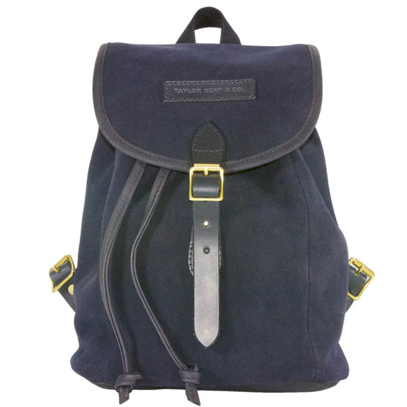 Taylor Kent & Co Suede Rucksack in Navy