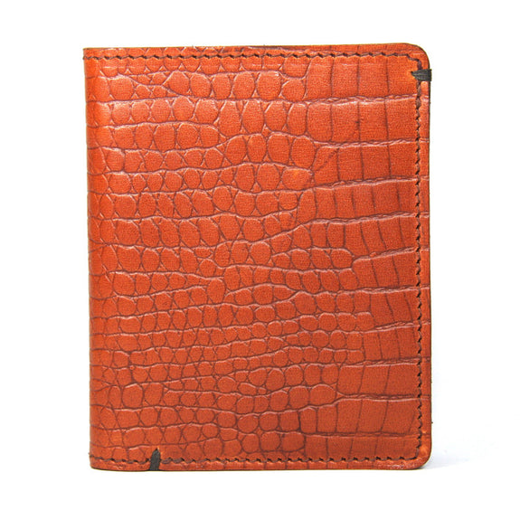 Taylor Kent Slim Line Wallet in Tan Croc Print