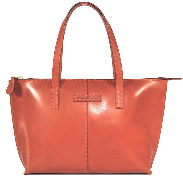 Taylor Kent English Bridle Leather Tote Bag in Tan