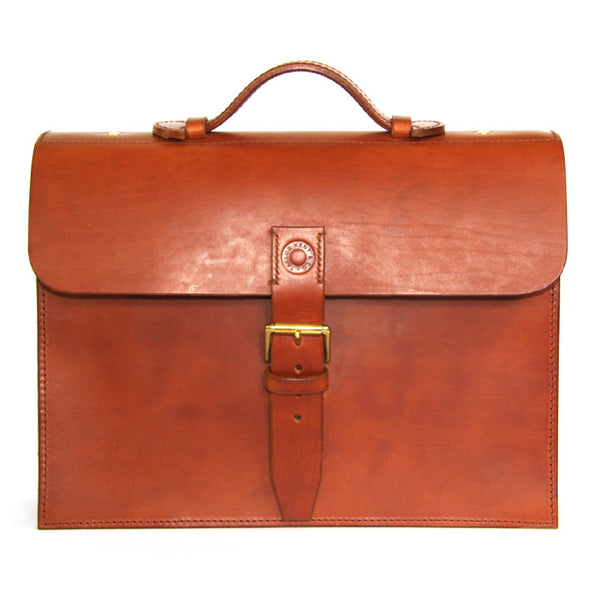 Taylor Kent Full Grain Leather Briefcase in Tan