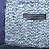 Taylor Kent Tweed Holdall in Blue with Navy Leather Detail 1
