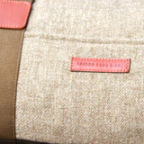 Taylor Kent Tweed Holdall in Khaki with Tan Leather Detail 2
