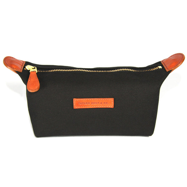 Taylor Kent Canvas Washbag in Black