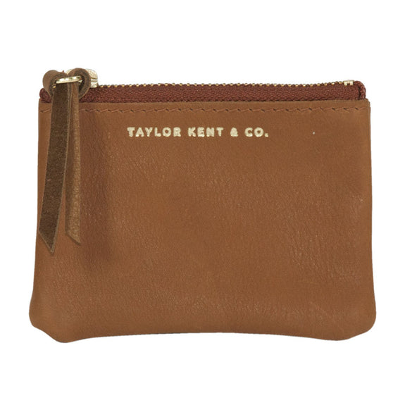 Taylor Kent & Co Coin Purse in Tan
