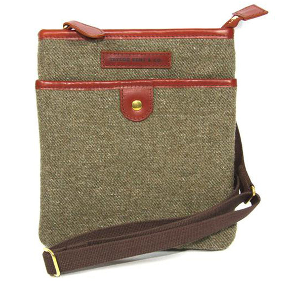 Taylor Kent Tweed Day Bag in Khaki