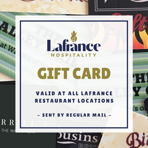 Lafrance Hospitality Gift Card - Gift Cards - Lafrance Hospitality Shop
