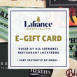 Lafrance Hospitality E-Gift Card - The Shop at White's of Westport