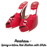 penahaus Spring-o-lators Red Leather with White