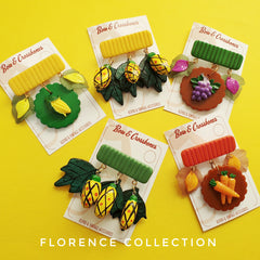 Florence 40's style fruit brooch collection