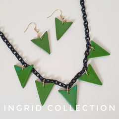 Ingrid chevron fakelite jewellery set
