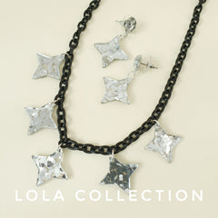 lola lucite confetti collection