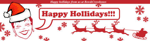 Merry Christmas from The Bow & Crossbones team xx