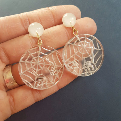 Corday spider web stud earrings - More colours! *sale!* - Bow & Crossbones LTD