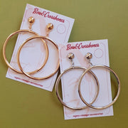 Wanda XL hoop earrings - More colours - Bow & Crossbones LTD